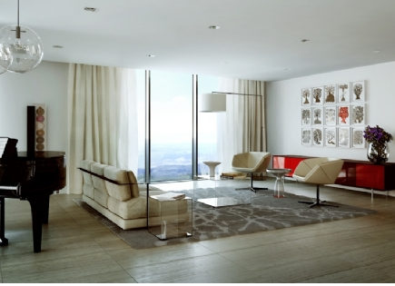 Residential Leasing - The Estella - living room
